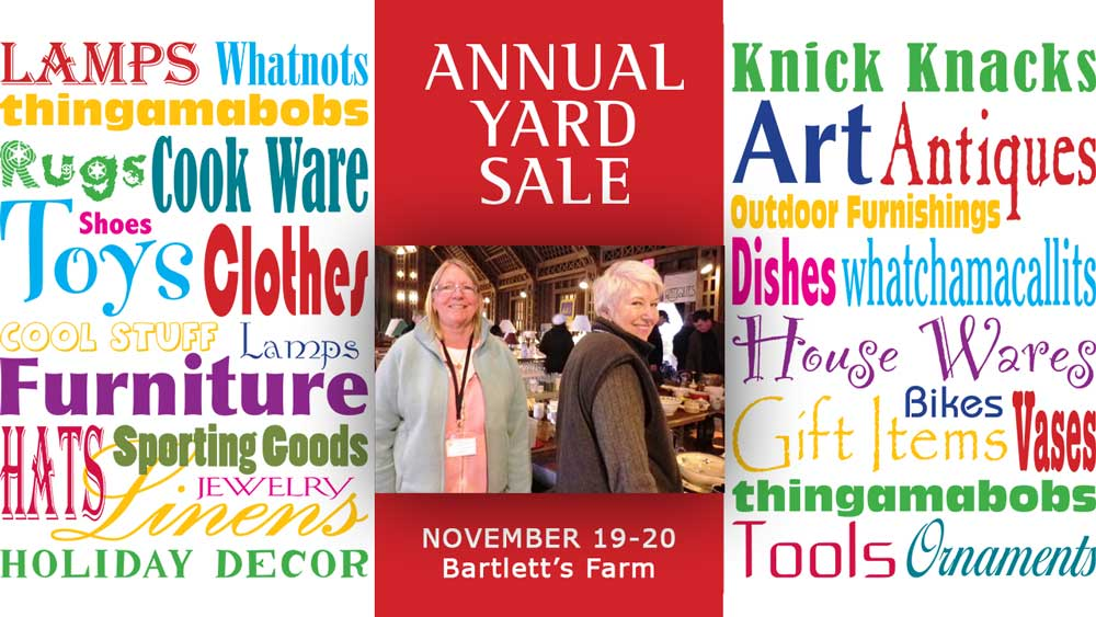 Annual Yard Sale November 19-20