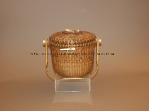 Accession # 904 A John Kittila Jr. Covered Round Shoulder Basket