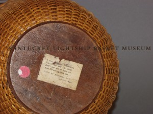 Accession No. 909 Mitchy Ray Basket with Label