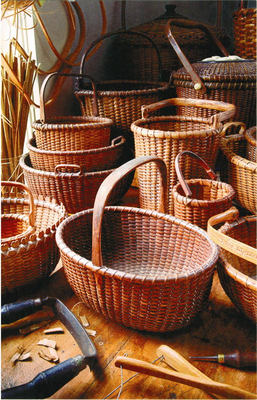 A collection of baskets