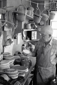 Stephen Gibbs in his Workshop