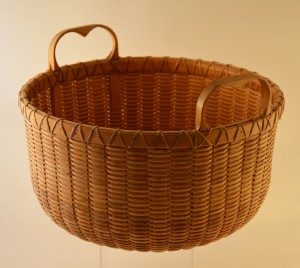 Arthur Martin basket with heart-shaped handles.