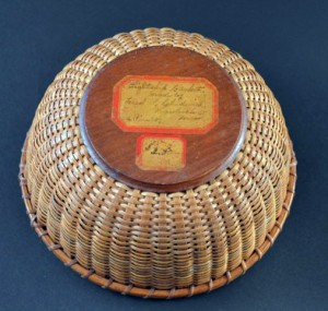 Frederick S. Chadwick basket with label.