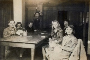 Jose Formosa Reyes with a group of Girl Scouts